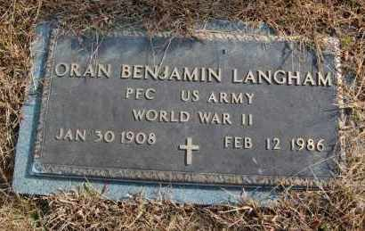 LANGHAM (VETERAN WWII), ORAN BENJAMIN - Greene County, Arkansas | ORAN BENJAMIN LANGHAM (VETERAN WWII) - Arkansas Gravestone Photos