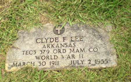 LEE  (VETERAN WWII), CLYDE F - Greene County, Arkansas | CLYDE F LEE  (VETERAN WWII) - Arkansas Gravestone Photos