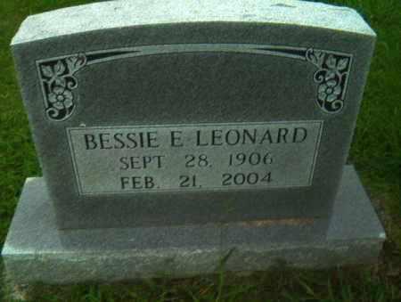 LEONARD, BESSIE E - Greene County, Arkansas | BESSIE E LEONARD - Arkansas Gravestone Photos