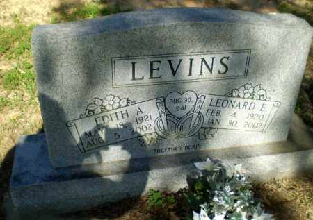 LEVINS, EDITH A - Greene County, Arkansas | EDITH A LEVINS - Arkansas Gravestone Photos