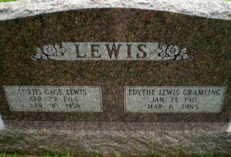 LEWIS, CURTIS GAGE - Greene County, Arkansas | CURTIS GAGE LEWIS - Arkansas Gravestone Photos