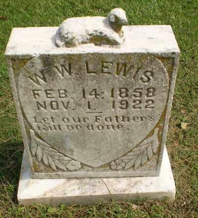 LEWIS, W.W. - Greene County, Arkansas | W.W. LEWIS - Arkansas Gravestone Photos