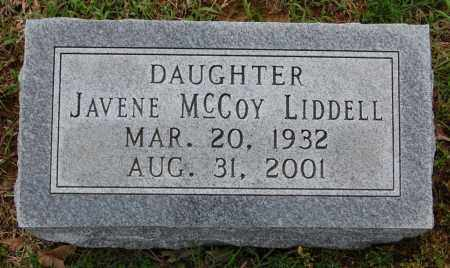 MCCOY LIDDELL, JAVENE - Greene County, Arkansas | JAVENE MCCOY LIDDELL - Arkansas Gravestone Photos