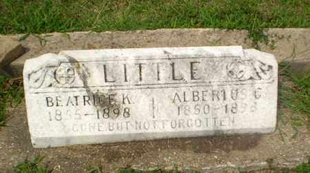 LITTLE, BEATRICE K - Greene County, Arkansas | BEATRICE K LITTLE - Arkansas Gravestone Photos