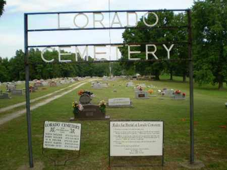 *LORADO CEMETERY, ENTRANCE SIGN - Greene County, Arkansas | ENTRANCE SIGN *LORADO CEMETERY - Arkansas Gravestone Photos