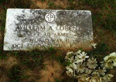 LORENZ  (VETERAN WWII), WILLIAM A - Greene County, Arkansas | WILLIAM A LORENZ  (VETERAN WWII) - Arkansas Gravestone Photos