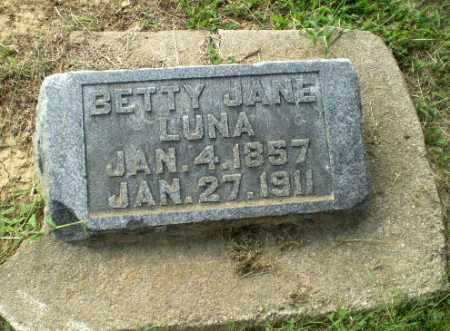 LUNA, BETTY JANE - Greene County, Arkansas | BETTY JANE LUNA - Arkansas Gravestone Photos