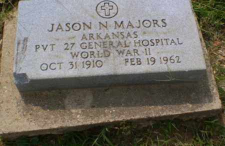 MAJORS  (VETERAN WWII), JASON N - Greene County, Arkansas | JASON N MAJORS  (VETERAN WWII) - Arkansas Gravestone Photos