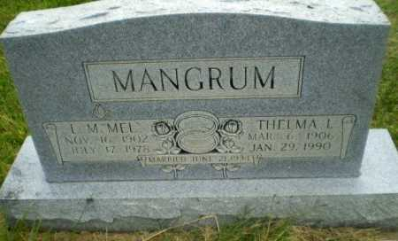 MANGRUM, THELMA L - Greene County, Arkansas | THELMA L MANGRUM - Arkansas Gravestone Photos