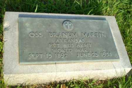 MARTIN  (VETERAN WWI), OSS BRANUM - Greene County, Arkansas | OSS BRANUM MARTIN  (VETERAN WWI) - Arkansas Gravestone Photos