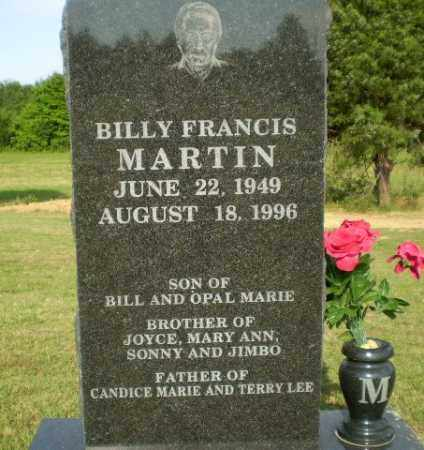 MARTIN, BILLY FRANCIS - Greene County, Arkansas | BILLY FRANCIS MARTIN - Arkansas Gravestone Photos