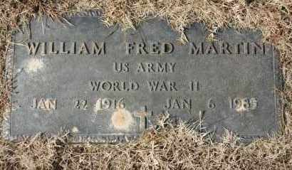 MARTIN (VETERAN WWII), WILLIAM FRED - Greene County, Arkansas | WILLIAM FRED MARTIN (VETERAN WWII) - Arkansas Gravestone Photos