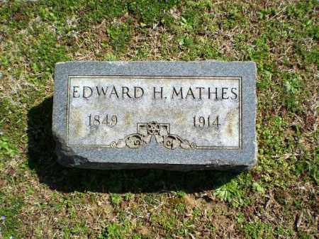MATHES, EDWARD H. - Greene County, Arkansas | EDWARD H. MATHES - Arkansas Gravestone Photos