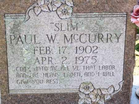 "MCCURRY, PAUL W. ""SLIM"" - Greene County, Arkansas | PAUL W. ""SLIM"" MCCURRY - Arkansas Gravestone Photos"