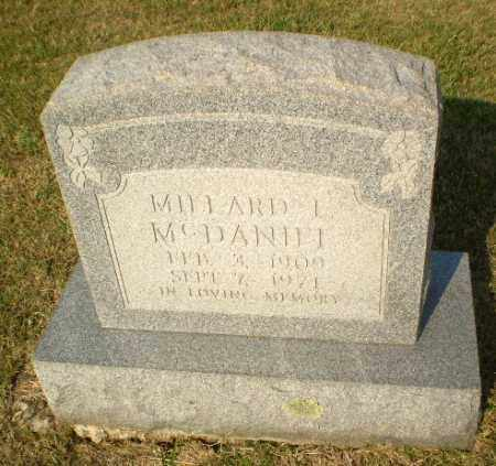MCDANIEL, MILLARD L - Greene County, Arkansas | MILLARD L MCDANIEL - Arkansas Gravestone Photos