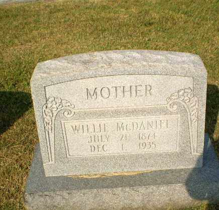 MCDANIEL, WILLIE - Greene County, Arkansas | WILLIE MCDANIEL - Arkansas Gravestone Photos