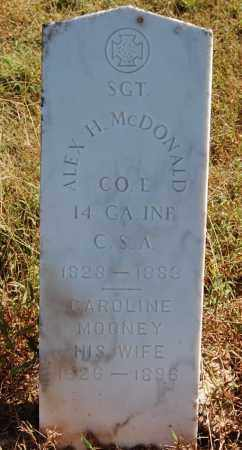 MCDONALD (VETERAN CSA), ALEX H - Greene County, Arkansas | ALEX H MCDONALD (VETERAN CSA) - Arkansas Gravestone Photos