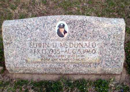 MCDONALD, EDWIN D - Greene County, Arkansas | EDWIN D MCDONALD - Arkansas Gravestone Photos