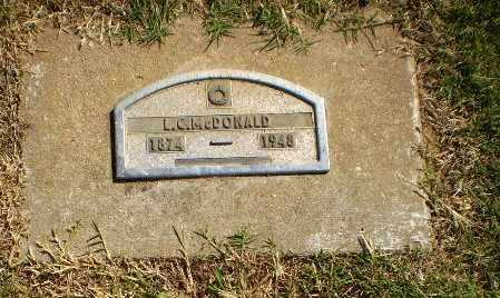 MCDONALD, L.C. - Greene County, Arkansas   L.C. MCDONALD - Arkansas Gravestone Photos