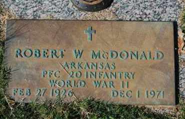 MCDONALD (VETERAN WWII), ROBERT W - Greene County, Arkansas | ROBERT W MCDONALD (VETERAN WWII) - Arkansas Gravestone Photos