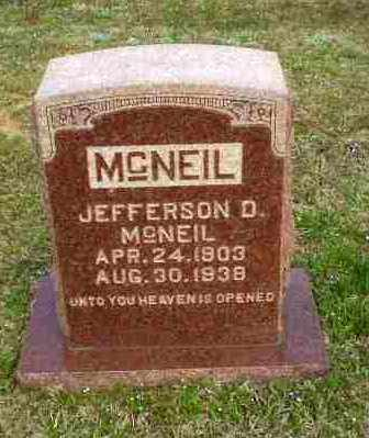 MCNEIL, JEFFERSON D - Greene County, Arkansas | JEFFERSON D MCNEIL - Arkansas Gravestone Photos