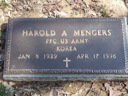 MENGERS (VETERAN KOR), HAROLD A. - Greene County, Arkansas | HAROLD A. MENGERS (VETERAN KOR) - Arkansas Gravestone Photos