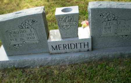 MEREDITH, EDGAR C - Greene County, Arkansas | EDGAR C MEREDITH - Arkansas Gravestone Photos