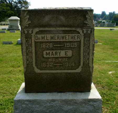 MERIWETHER, MARY E. - Greene County, Arkansas | MARY E. MERIWETHER - Arkansas Gravestone Photos