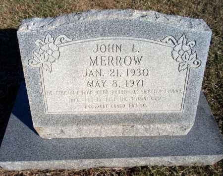 MERROW, JOHN L - Greene County, Arkansas   JOHN L MERROW - Arkansas Gravestone Photos