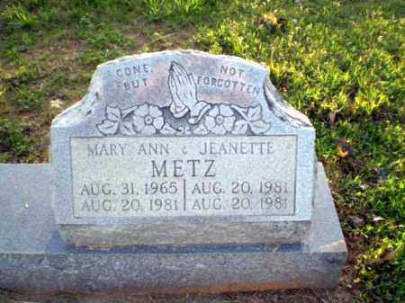 METZ, MARY ANN - Greene County, Arkansas | MARY ANN METZ - Arkansas Gravestone Photos