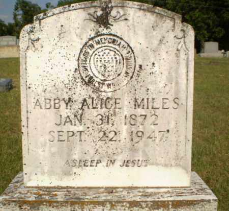 MILES, ABBY ALICE - Greene County, Arkansas | ABBY ALICE MILES - Arkansas Gravestone Photos