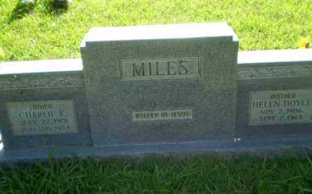MILES, CHARLIE E - Greene County, Arkansas | CHARLIE E MILES - Arkansas Gravestone Photos