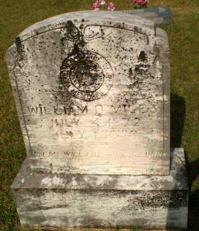 MILES, WILLIAM D - Greene County, Arkansas | WILLIAM D MILES - Arkansas Gravestone Photos