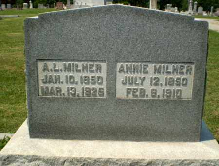 MILNER, ANNIE - Greene County, Arkansas | ANNIE MILNER - Arkansas Gravestone Photos