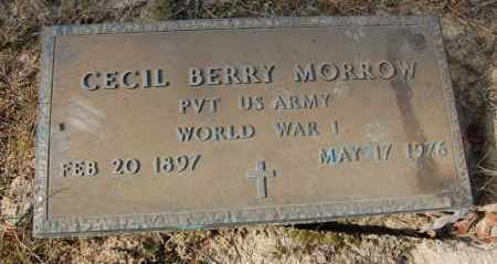 MORROW (VETERAN WWI), CECIL BERRY - Greene County, Arkansas | CECIL BERRY MORROW (VETERAN WWI) - Arkansas Gravestone Photos