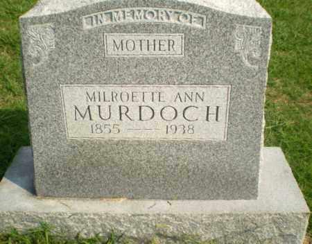 MURDOCH, MILROETTE ANN - Greene County, Arkansas | MILROETTE ANN MURDOCH - Arkansas Gravestone Photos