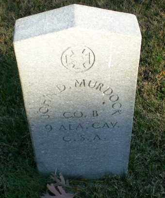 MURDOCK (VETERAN CSA), JOHN D - Greene County, Arkansas | JOHN D MURDOCK (VETERAN CSA) - Arkansas Gravestone Photos