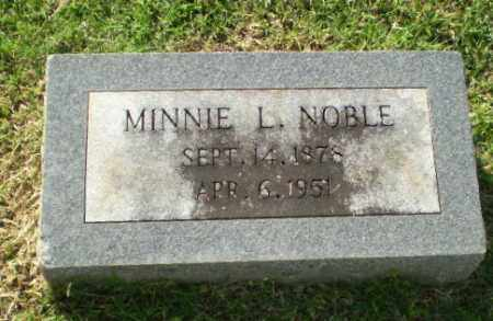 NOBLE, MINNIE L - Greene County, Arkansas | MINNIE L NOBLE - Arkansas Gravestone Photos