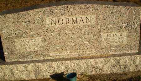 NORMAN, JOHN W - Greene County, Arkansas | JOHN W NORMAN - Arkansas Gravestone Photos