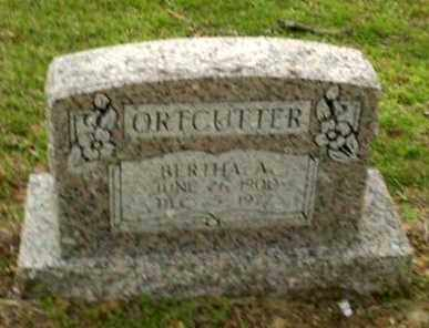 ORTCUTTER, BERTHA A - Greene County, Arkansas | BERTHA A ORTCUTTER - Arkansas Gravestone Photos