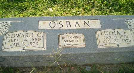 OSBAN, EDWARD C - Greene County, Arkansas | EDWARD C OSBAN - Arkansas Gravestone Photos