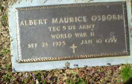 OSBORN  (VETERAN WWII), ALBERT MAURICE - Greene County, Arkansas | ALBERT MAURICE OSBORN  (VETERAN WWII) - Arkansas Gravestone Photos
