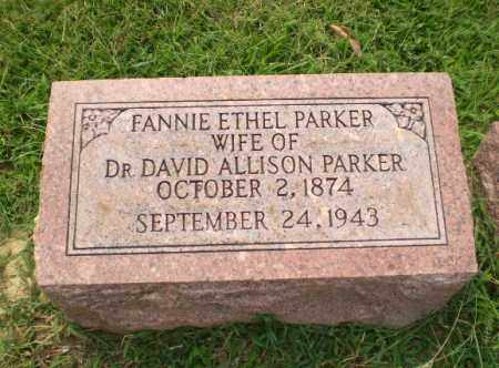 PARKER, FANNIE ETHEL - Greene County, Arkansas | FANNIE ETHEL PARKER - Arkansas Gravestone Photos