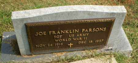 PARSONS  (VETERAN WWII), JOE FRANKLIN - Greene County, Arkansas | JOE FRANKLIN PARSONS  (VETERAN WWII) - Arkansas Gravestone Photos
