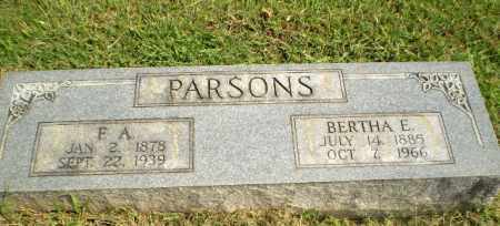 PARSONS, BERTHA E - Greene County, Arkansas | BERTHA E PARSONS - Arkansas Gravestone Photos