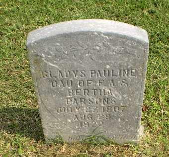PARSONS, GLADYS PAULINE - Greene County, Arkansas | GLADYS PAULINE PARSONS - Arkansas Gravestone Photos