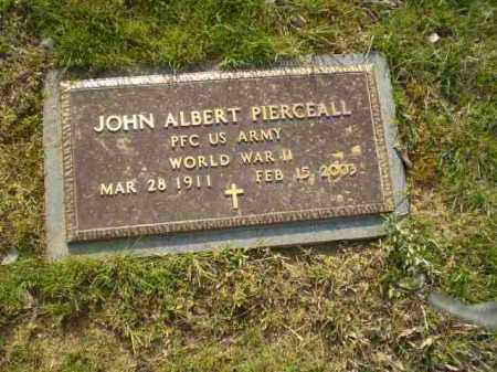 PIERCEALL  (VETERAN WWII), JOHN ALBERT - Greene County, Arkansas | JOHN ALBERT PIERCEALL  (VETERAN WWII) - Arkansas Gravestone Photos