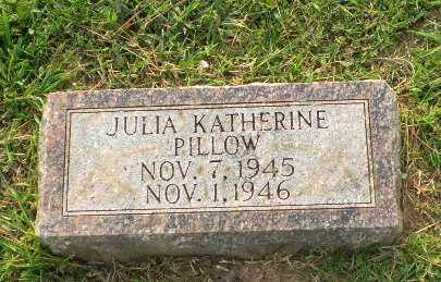 PILLOW, JULIA KATHERINE - Greene County, Arkansas | JULIA KATHERINE PILLOW - Arkansas Gravestone Photos