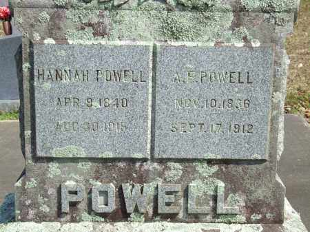 POWELL, HANNAH - Greene County, Arkansas | HANNAH POWELL - Arkansas Gravestone Photos