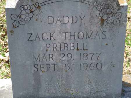 PRIBBLE, ZACK THOMAS - Greene County, Arkansas | ZACK THOMAS PRIBBLE - Arkansas Gravestone Photos